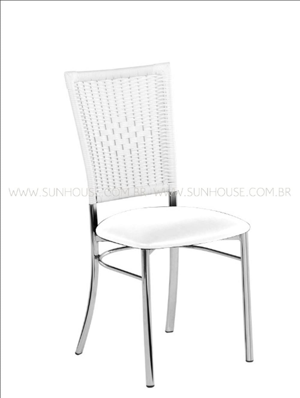 Cadeira  Assento Korino Branco Enc. Junco Branco - 17606