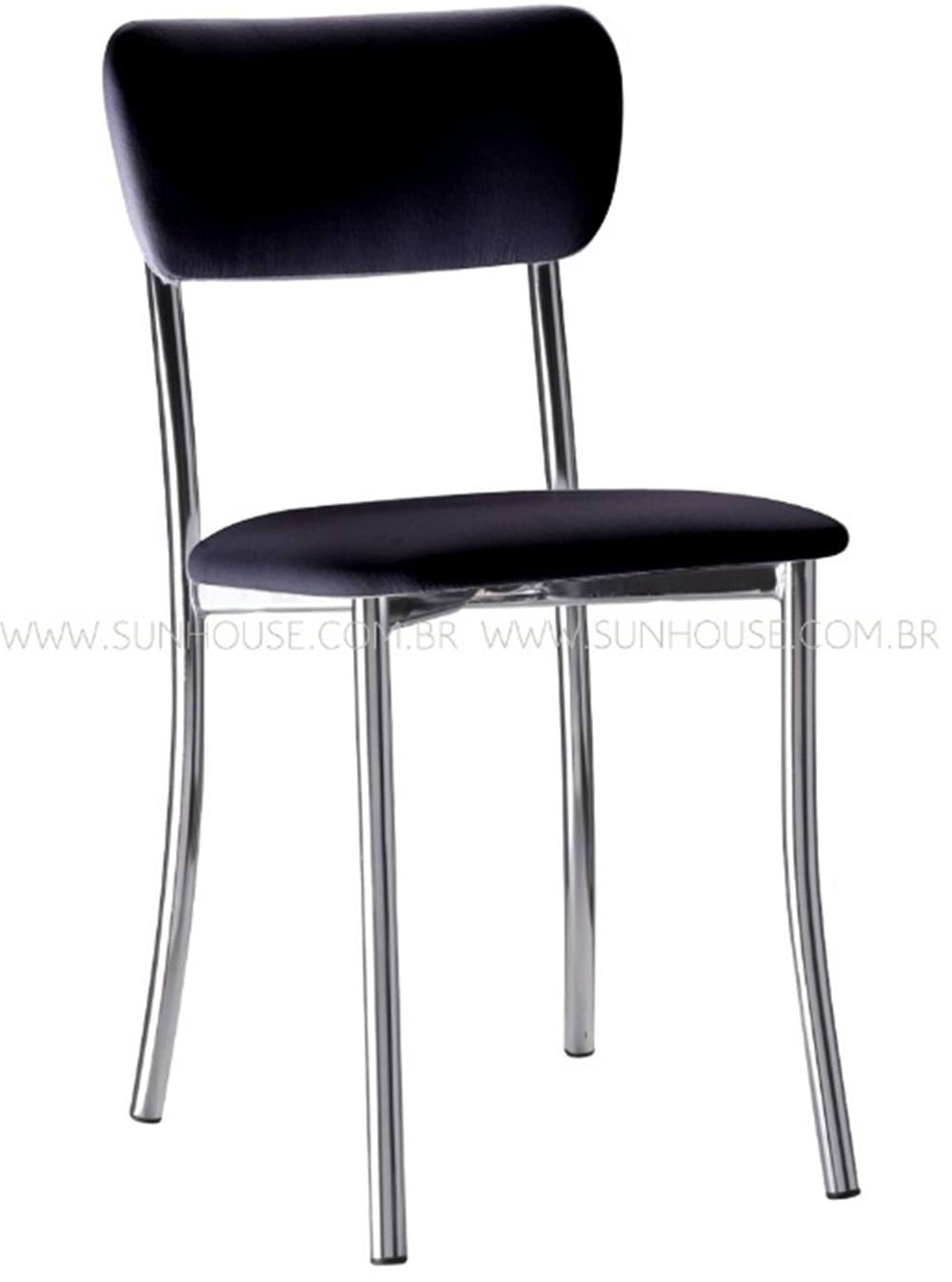 Cadeira Estofada Korino Preta - 17608