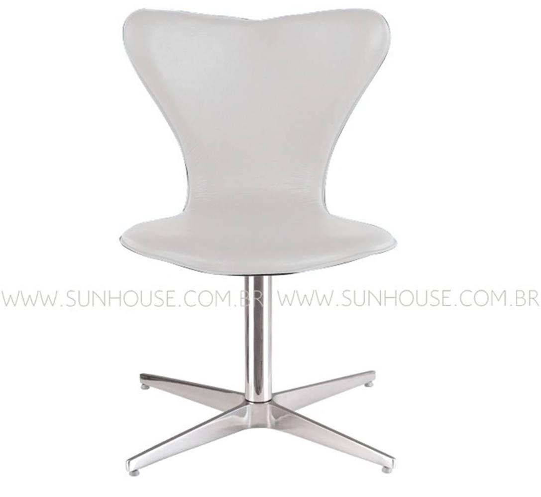 Cadeira Jacobsen Pes Giratorio Corino Branco - 12386