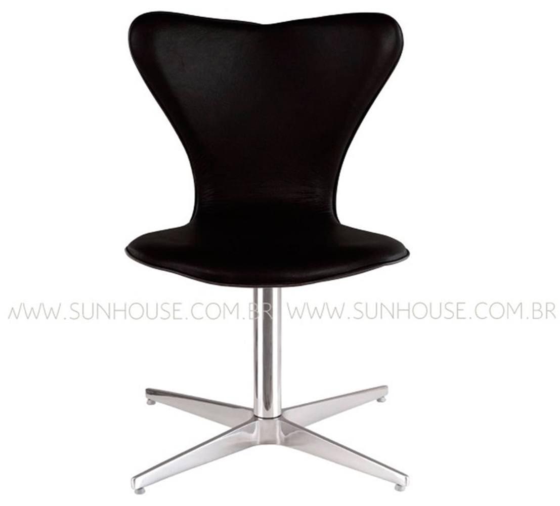 Cadeira Jacobsen Pes Giratorio Corino Preto - 12387