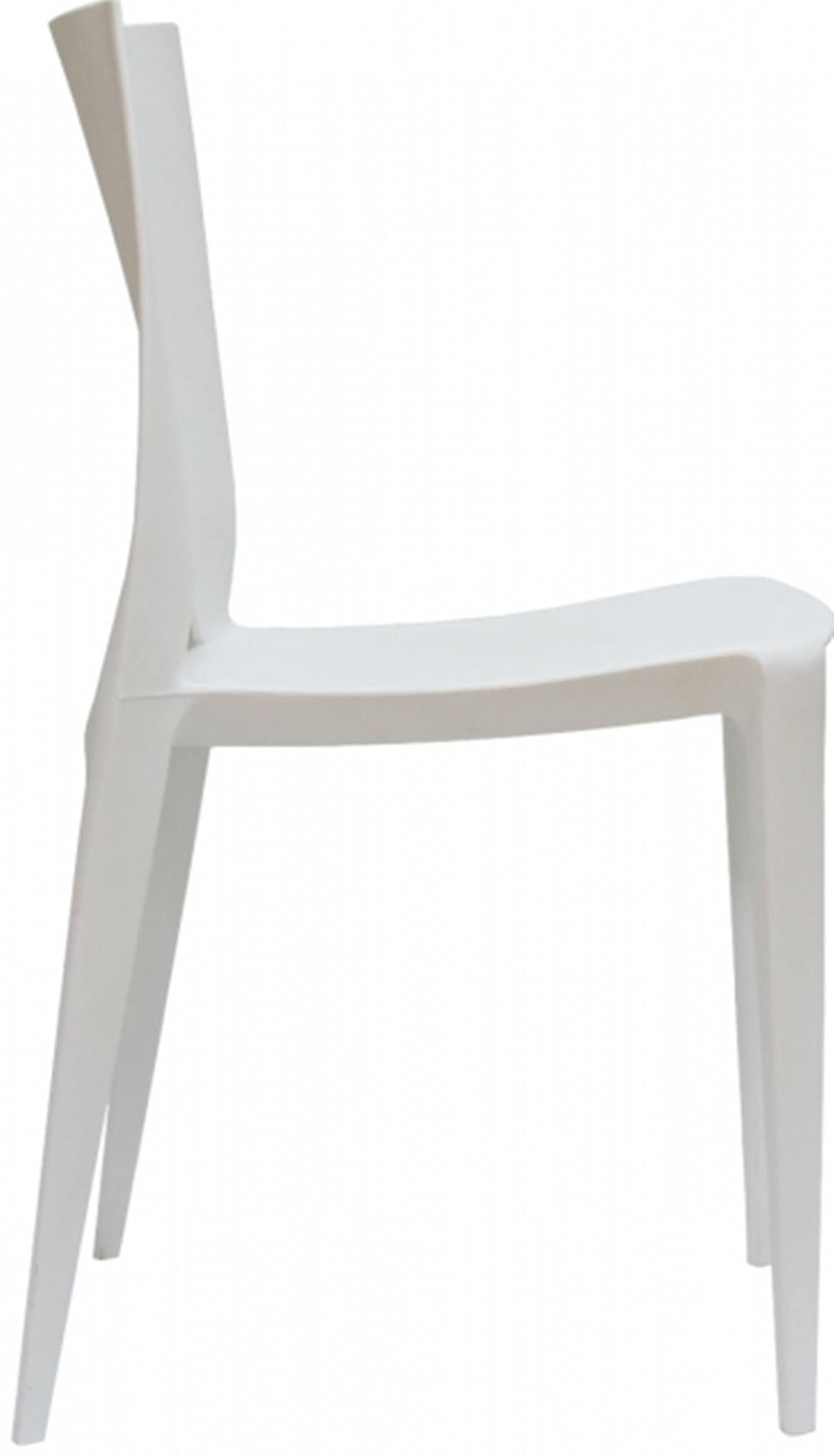 Cadeira Meia Lua Polipropileno Branco - 15126