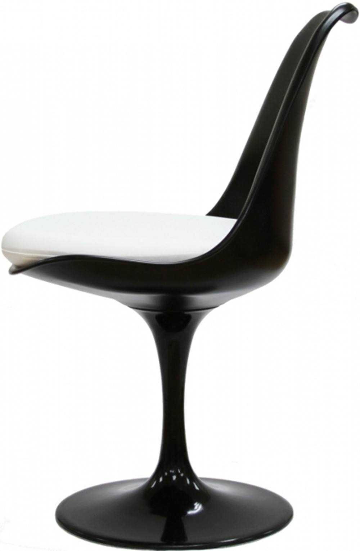 Cadeira Saarinen Preta (com Almofada Branca) - 15040