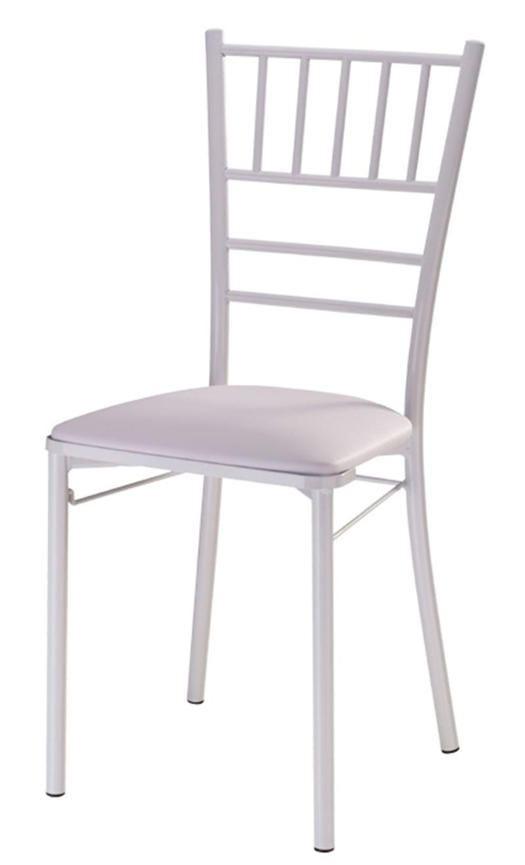 Cadeira 147 Empilhavel com Assento Estofado Branco -12309