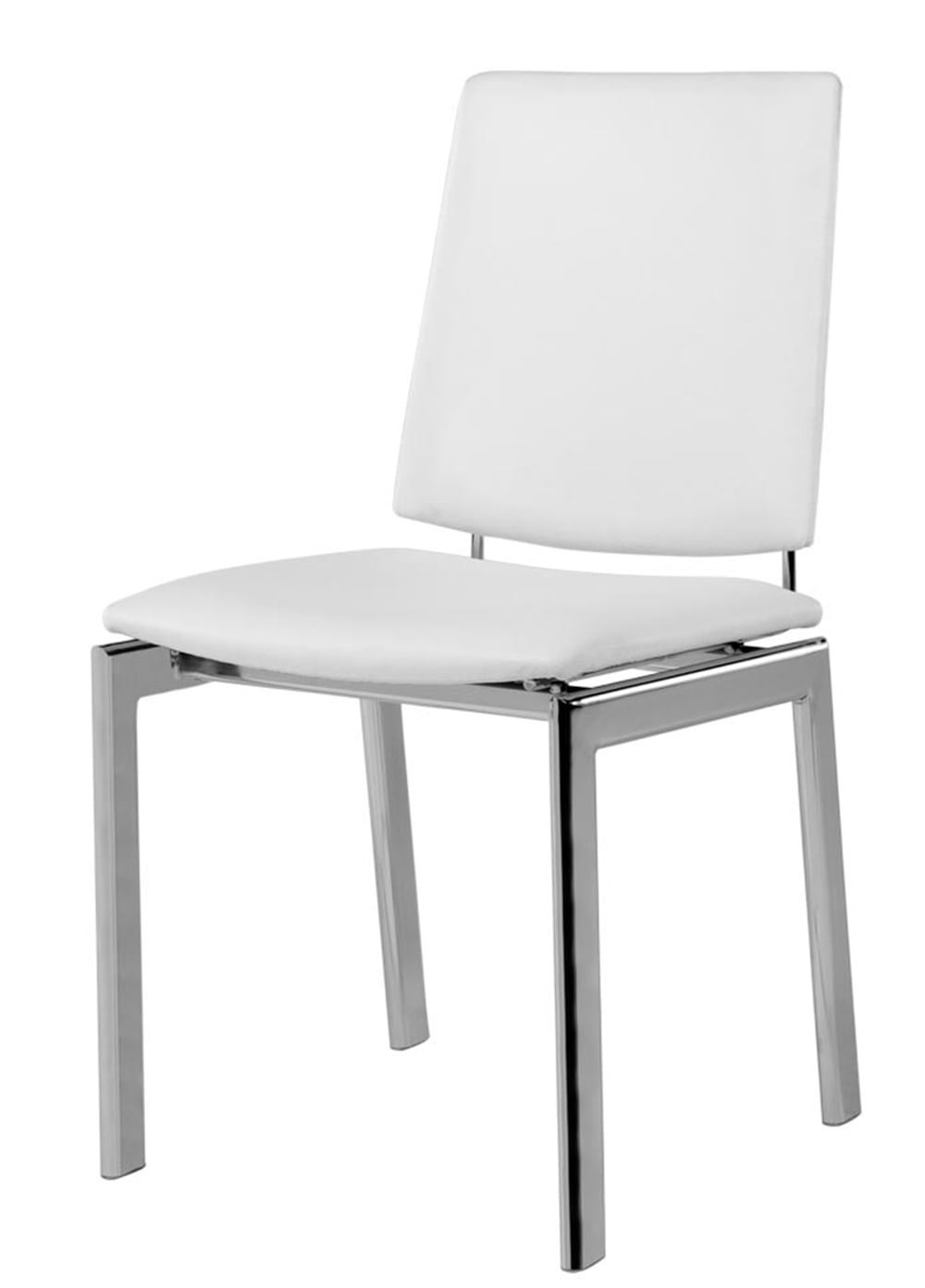 Cadeira 1949 Cromada Assento Multilaminado  Branco - 12362