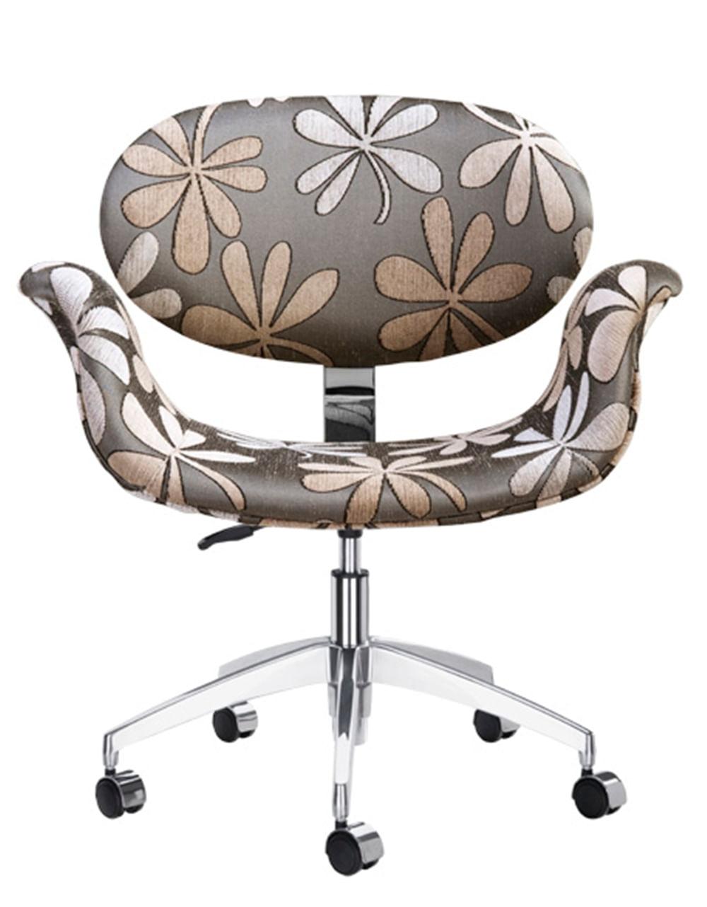 Cadeira 1970 Assento Multilaminado Aluminio Chenille 12392