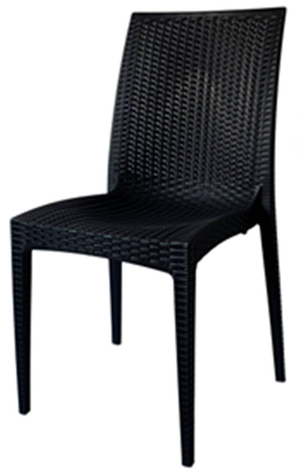 Cadeira Rattan Polipropileno Preto- 18918