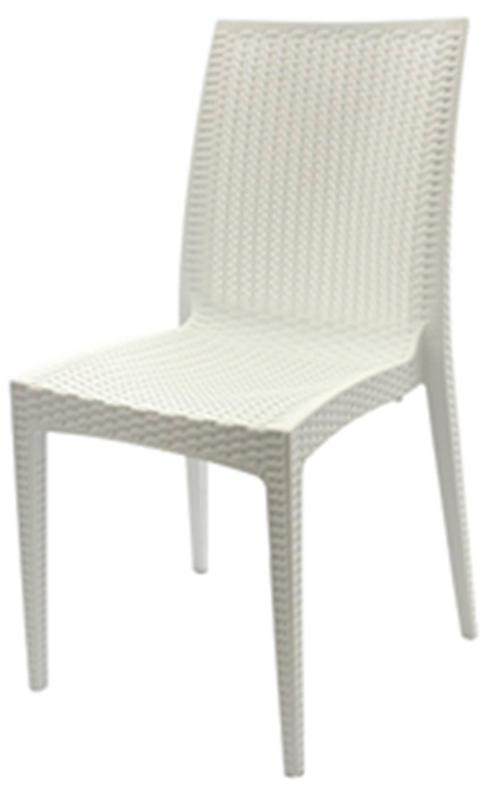Cadeira Rattan Polipropileno Branco - 18919
