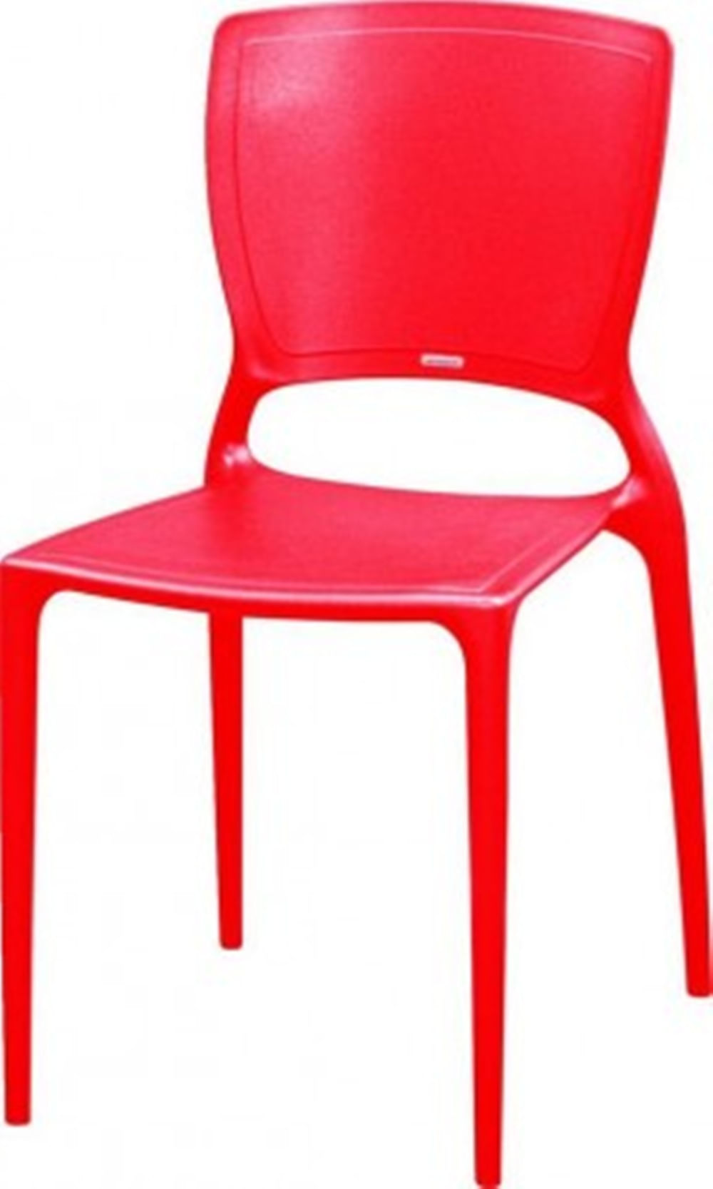 Cadeira Sofia Encosto Fechado Polipropileno Vermelho - 18750