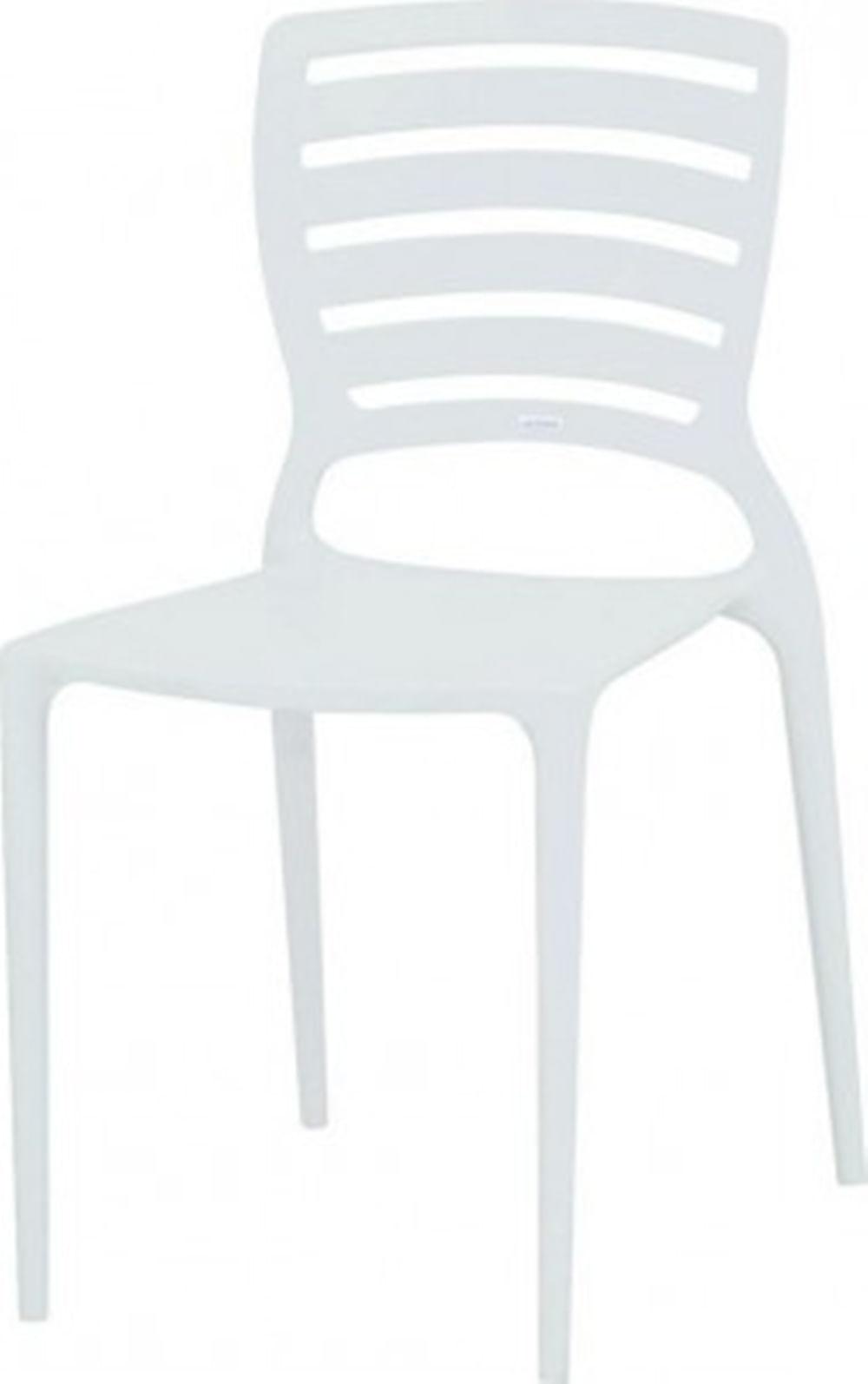 Cadeira Sofia Vazado Horizontal Polipropileno Branco - 5994
