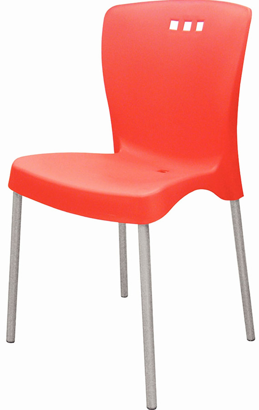 Cadeira Mona Base Aluminio Anodizado Vermelho - 20056