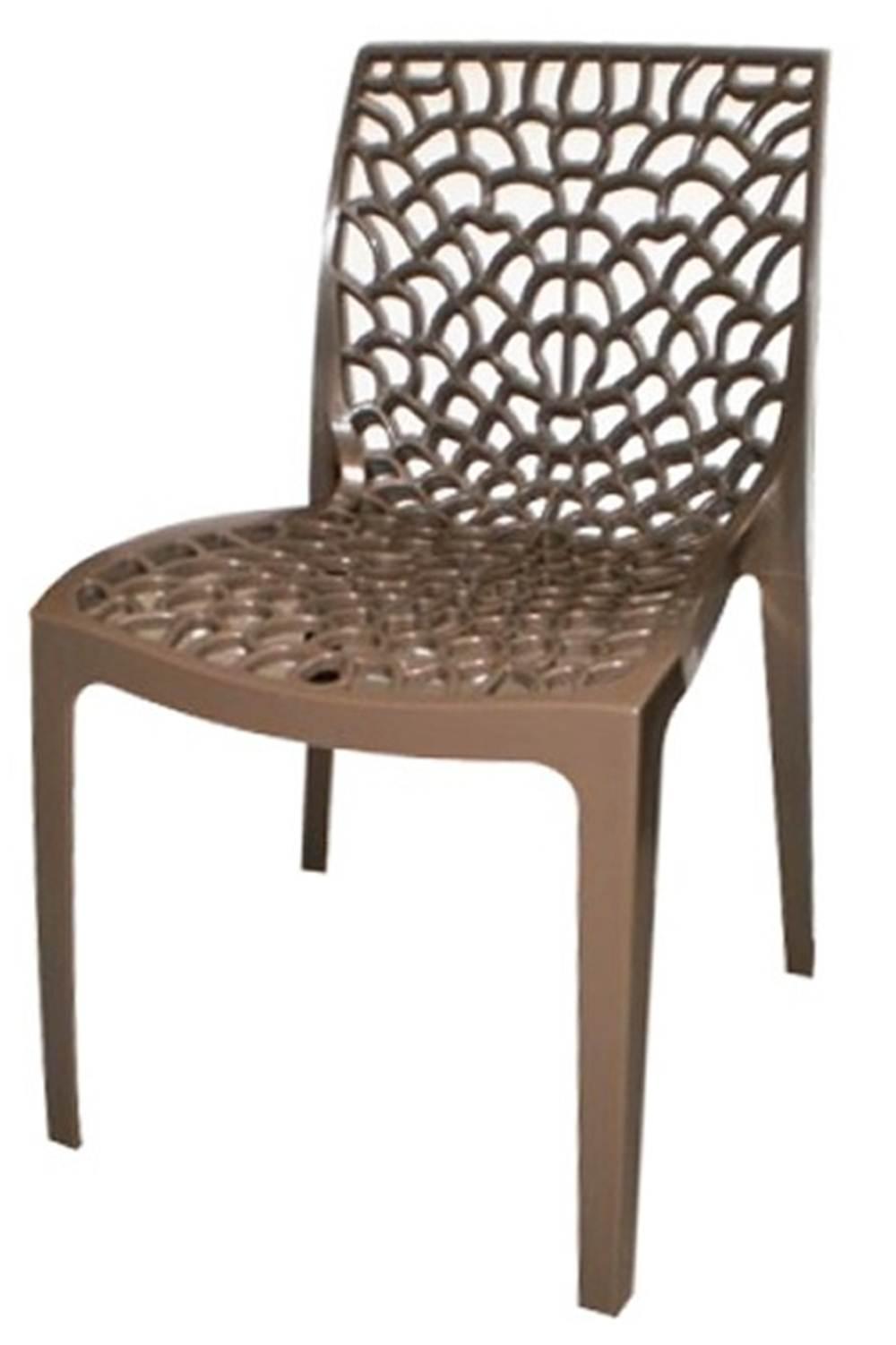 Cadeira Gruver Polipropileno Marrom - 21045
