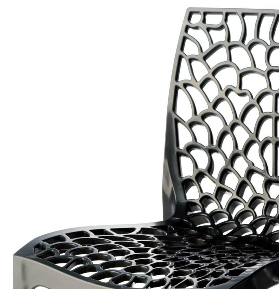 Cadeira Gruver Polipropileno Preto - 15096