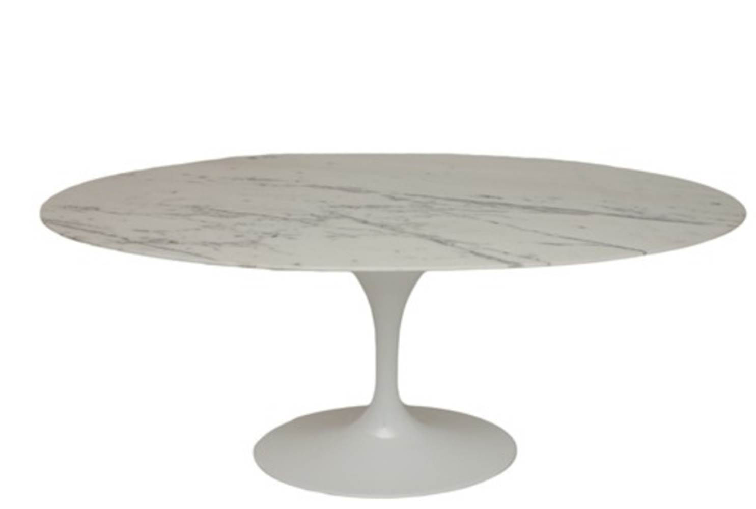 Mesa Jantar Saarinen Oval 198x122 M. Venatto Branco - 8312
