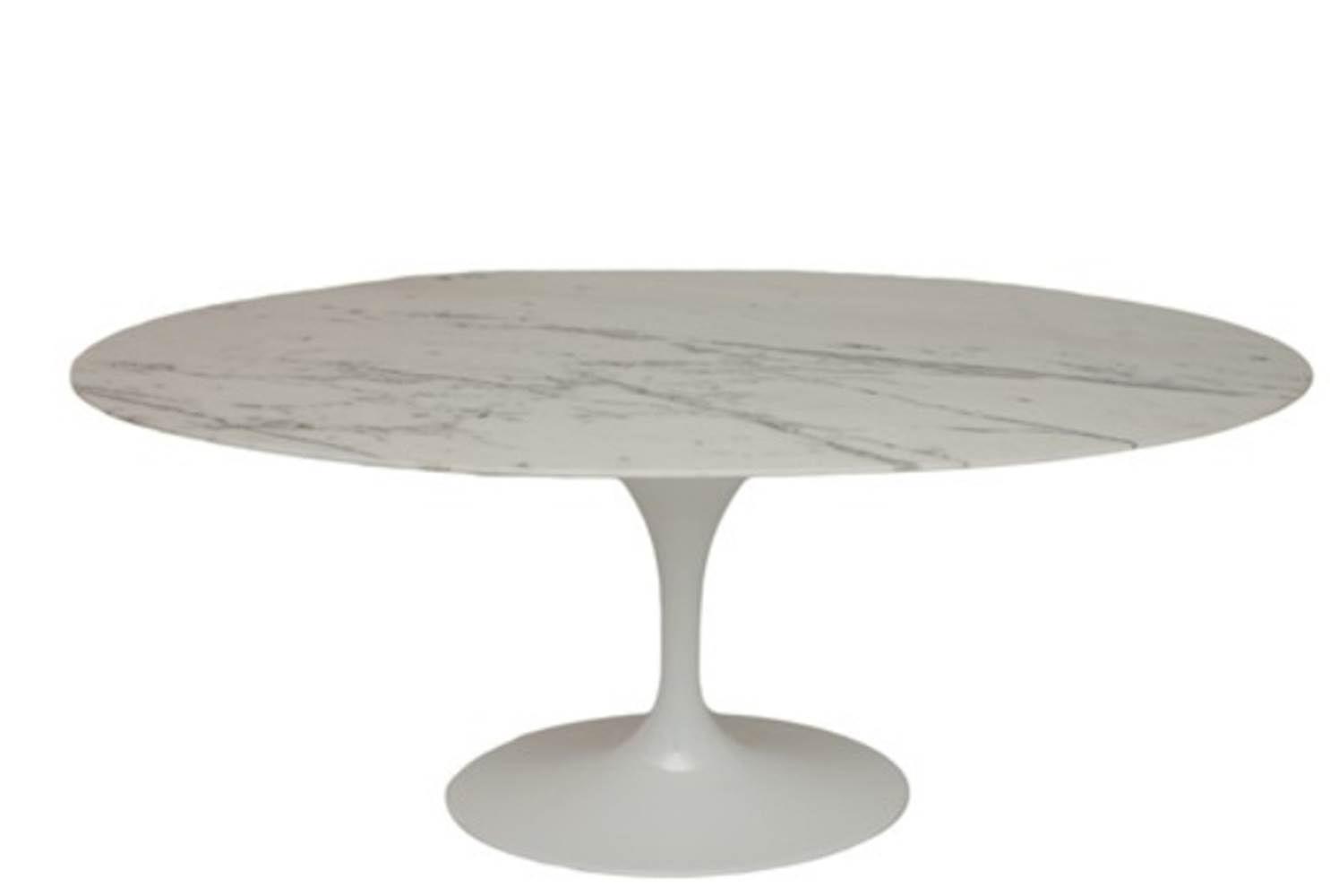 Mesa Jantar Saarinen Oval 180x100 M. Venatto Branco - 21349