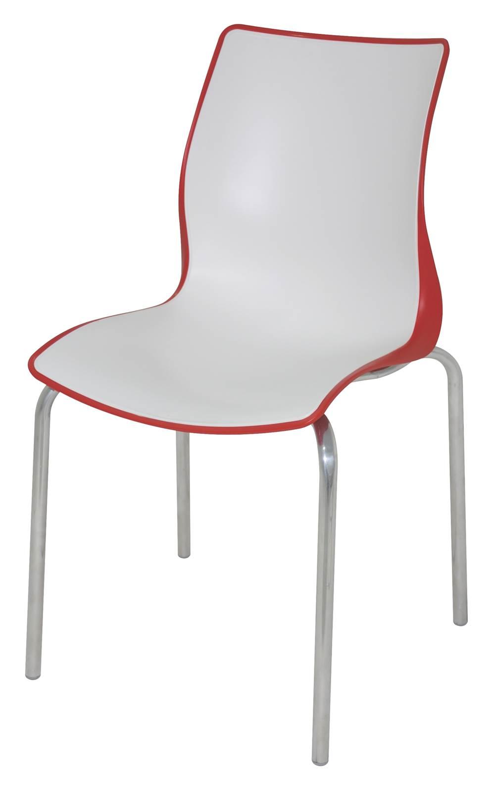 Cadeira Maja Cor Vermelho Com Branco - 21737