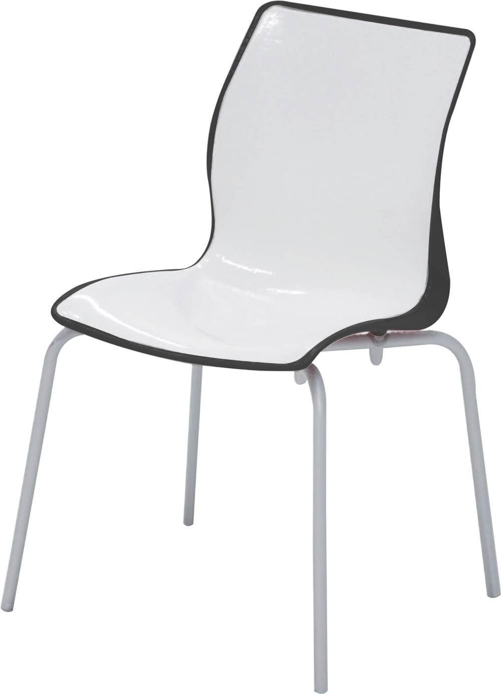 Cadeira Maja Cor Preto com Branco - 21739