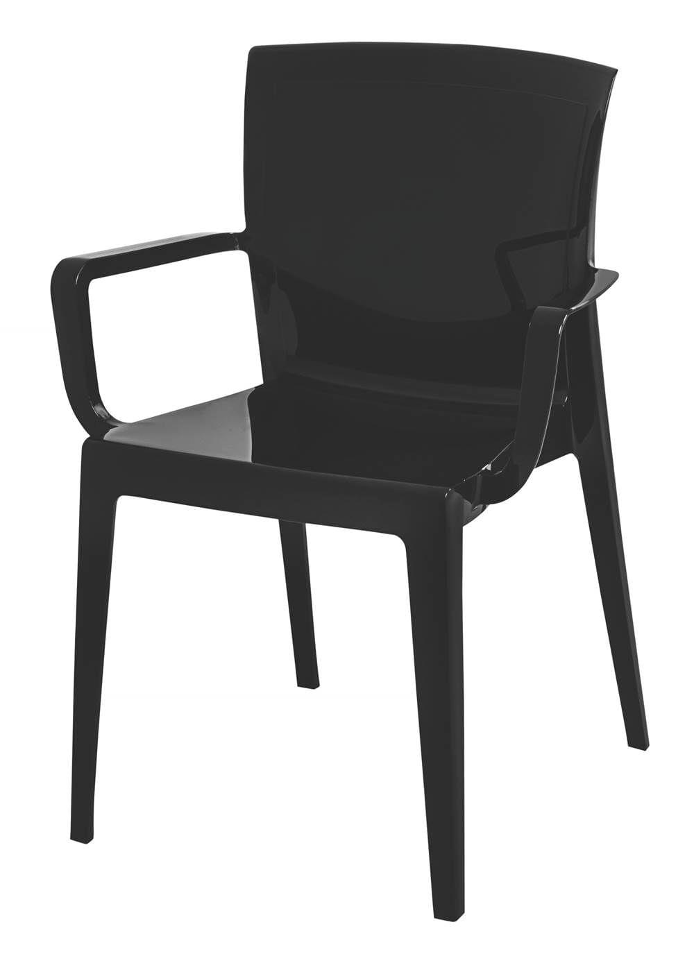 Cadeira Victoria Encosto C/Braco Cor Preto - 21837