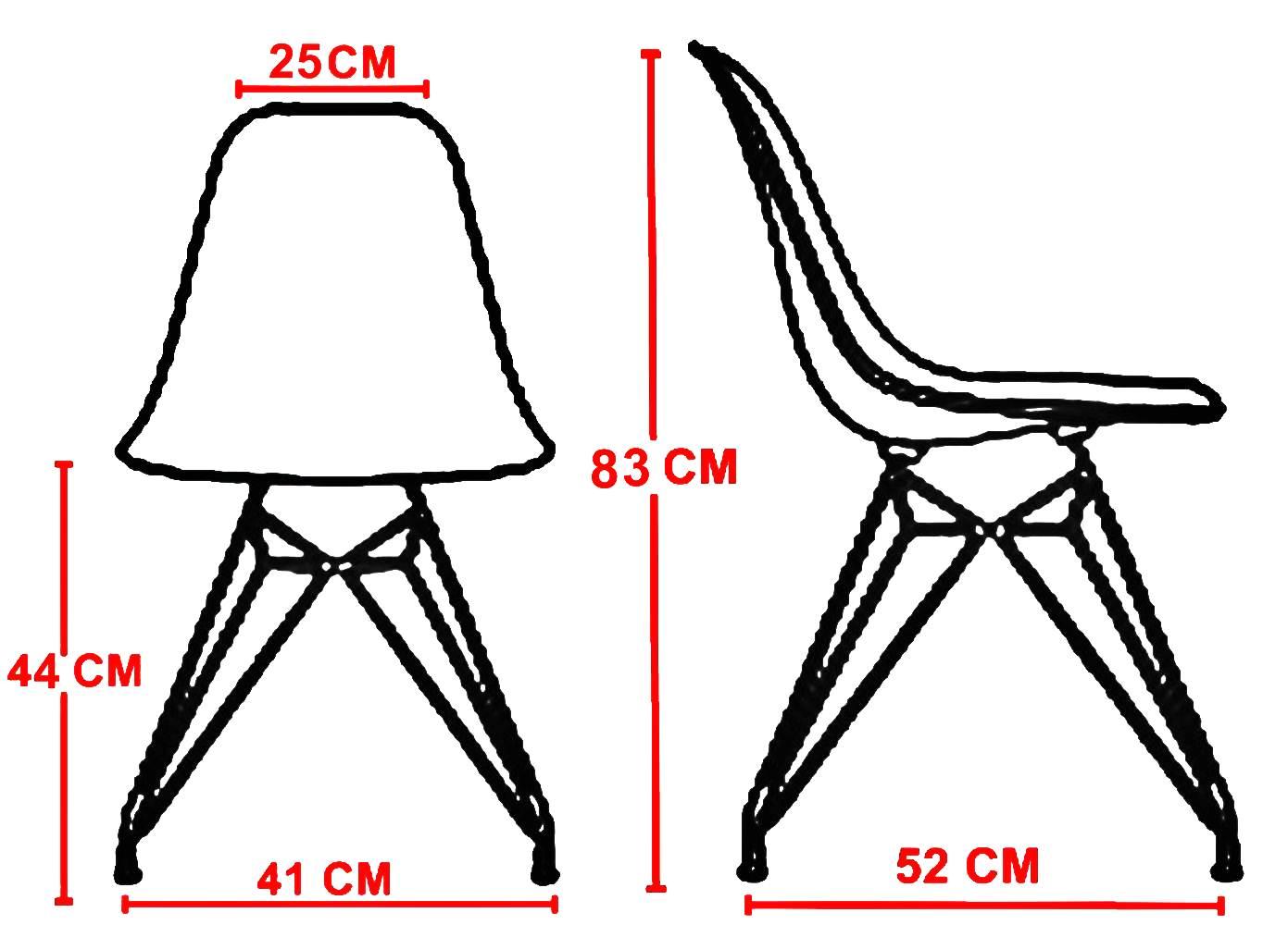 Cadeira Eames Polipropileno Branco Base Madeira -10255