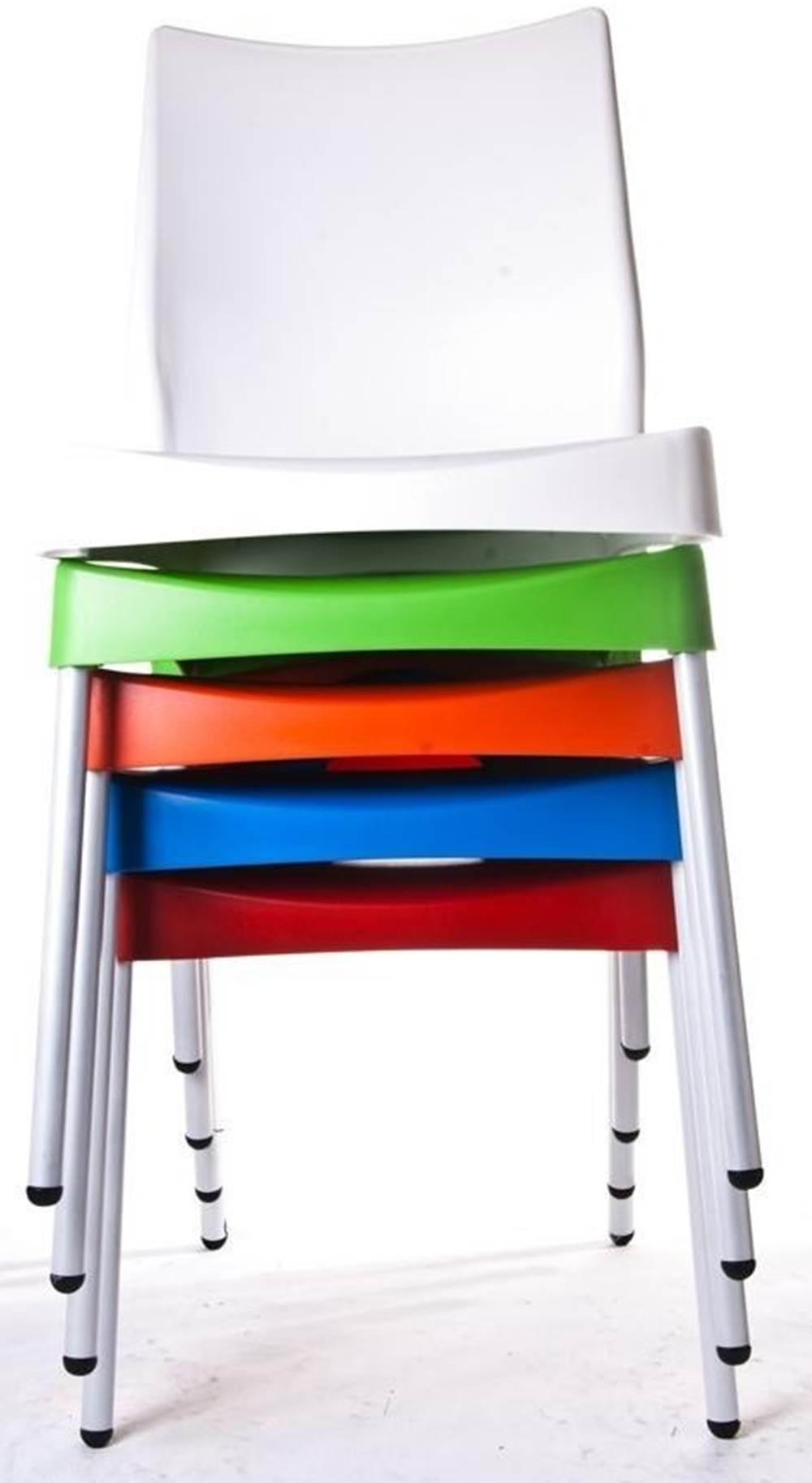 Cadeira Malba Base Fixa Pintada Cinza Cor Verde Agua -17538
