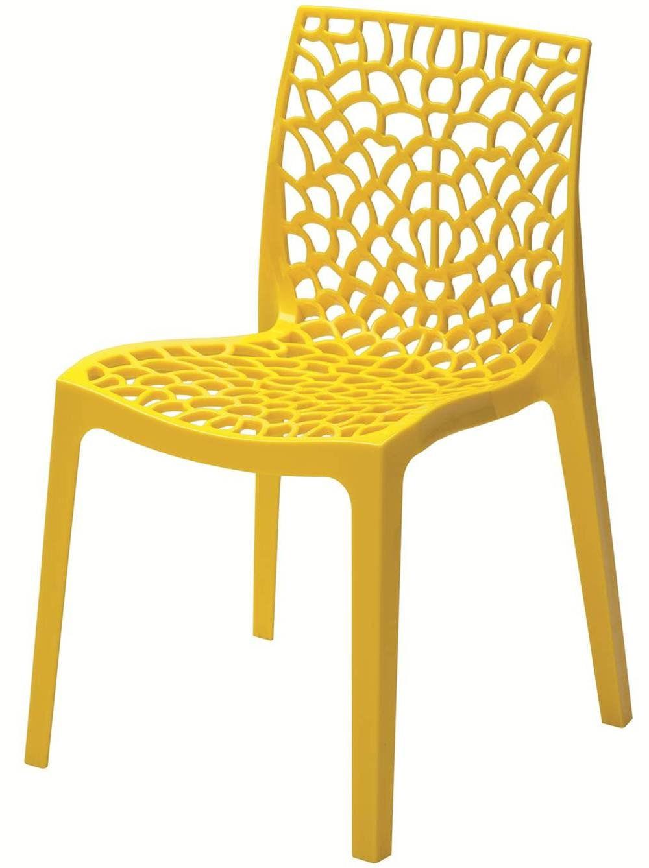 Cadeira Gruver Polipropileno Amarela - 22693