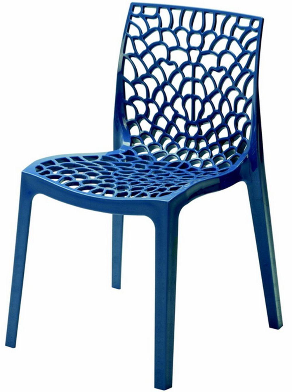 Cadeira Gruver Polipropileno Azul - 23076