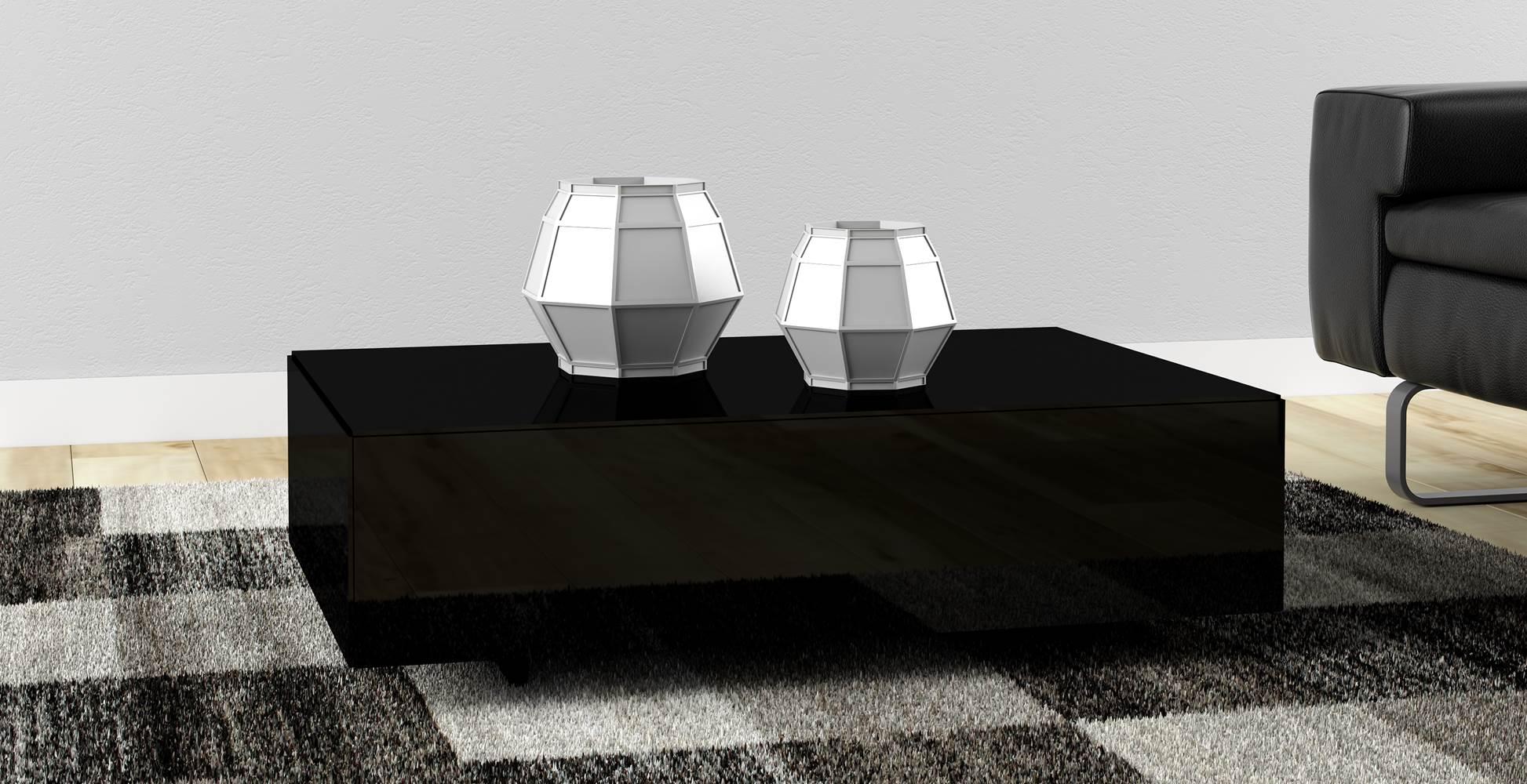 Mesa de Centro Cubo cor Preto Brilho - 20284