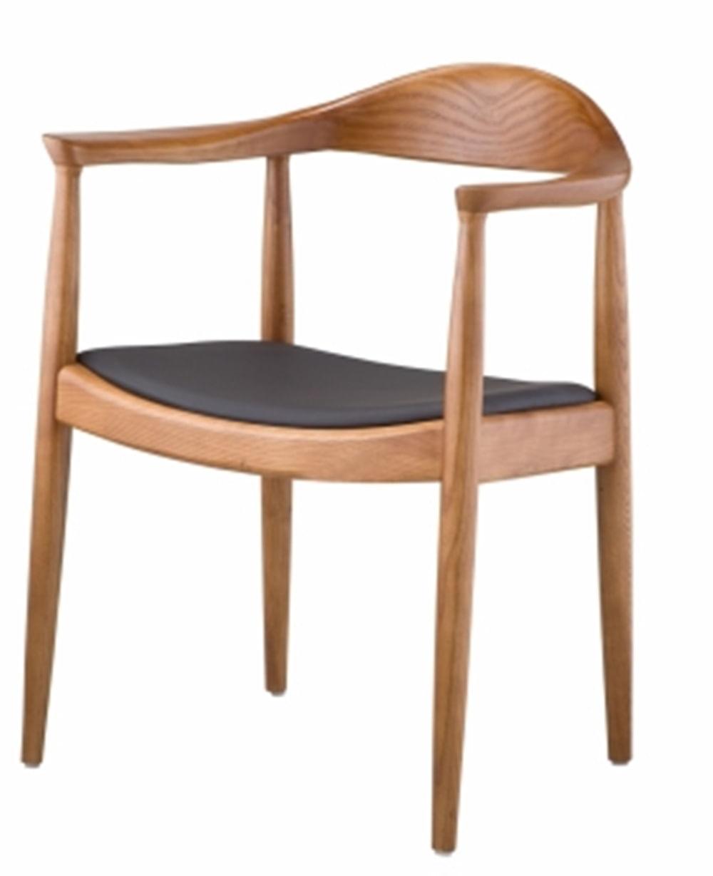 Cadeira Carolina Com Braco Cor Madeira Natural - 23842