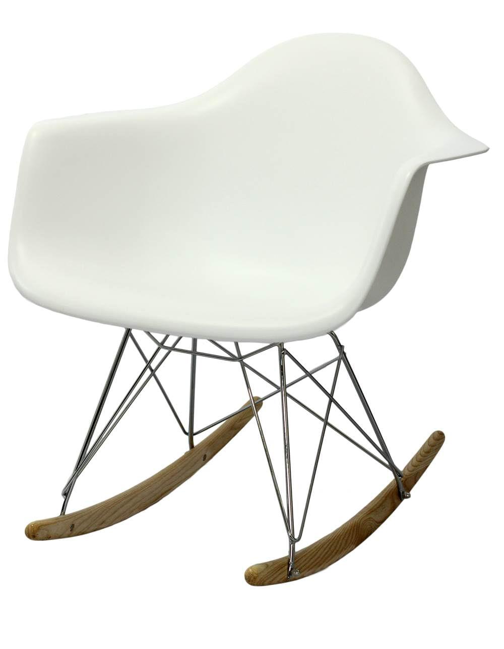 Cadeira Eames com Braco Base Balanco Branco Fosco - 24501