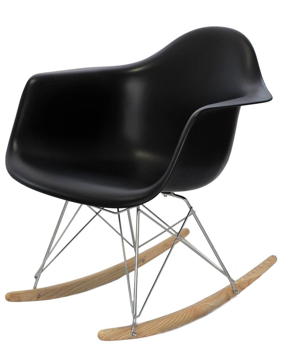 Cadeira Eames com Braco Base Balanco Preto Fosco - 24503