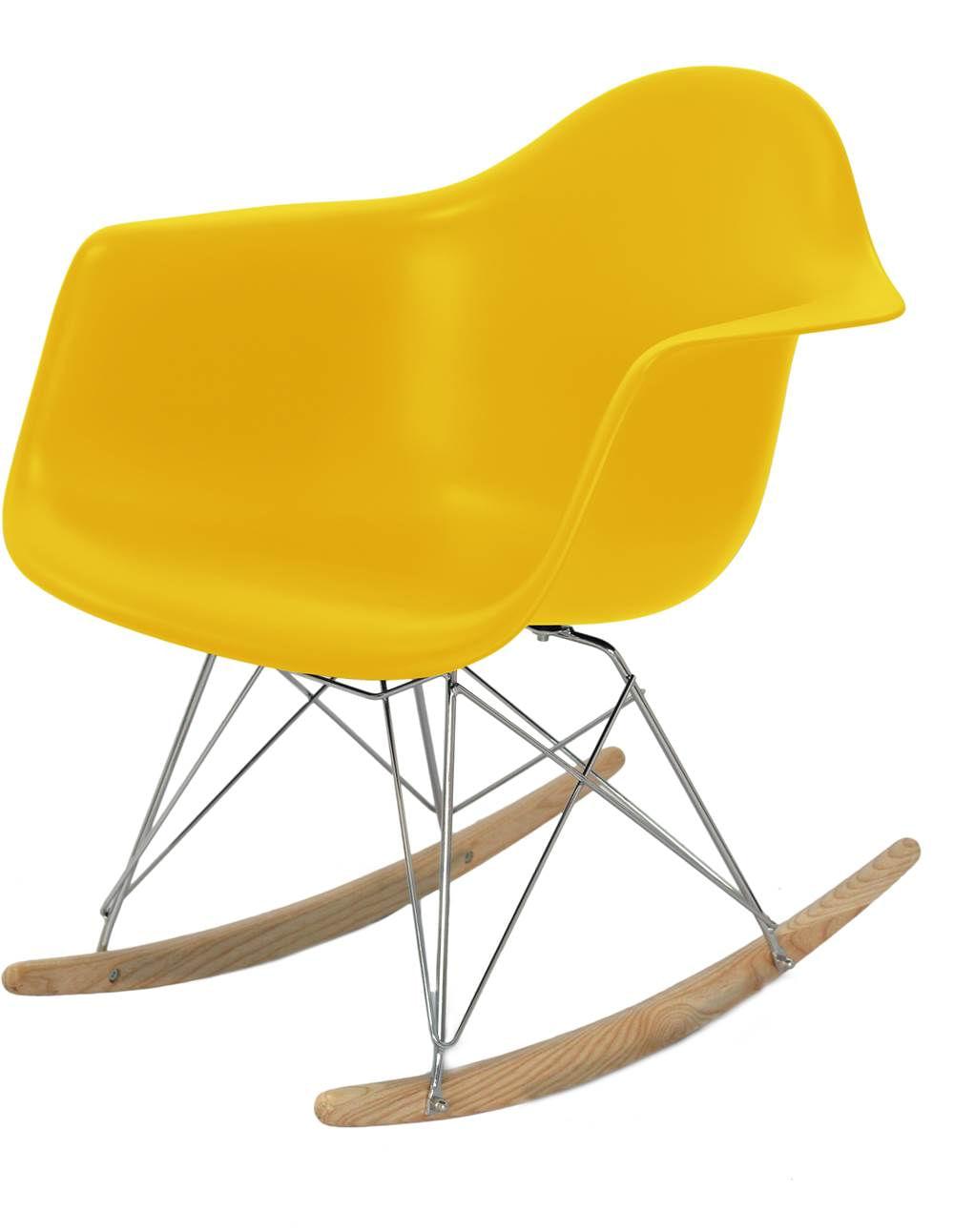 Cadeira Eames com Braco Base Balanco Amarelo Fosco - 24504