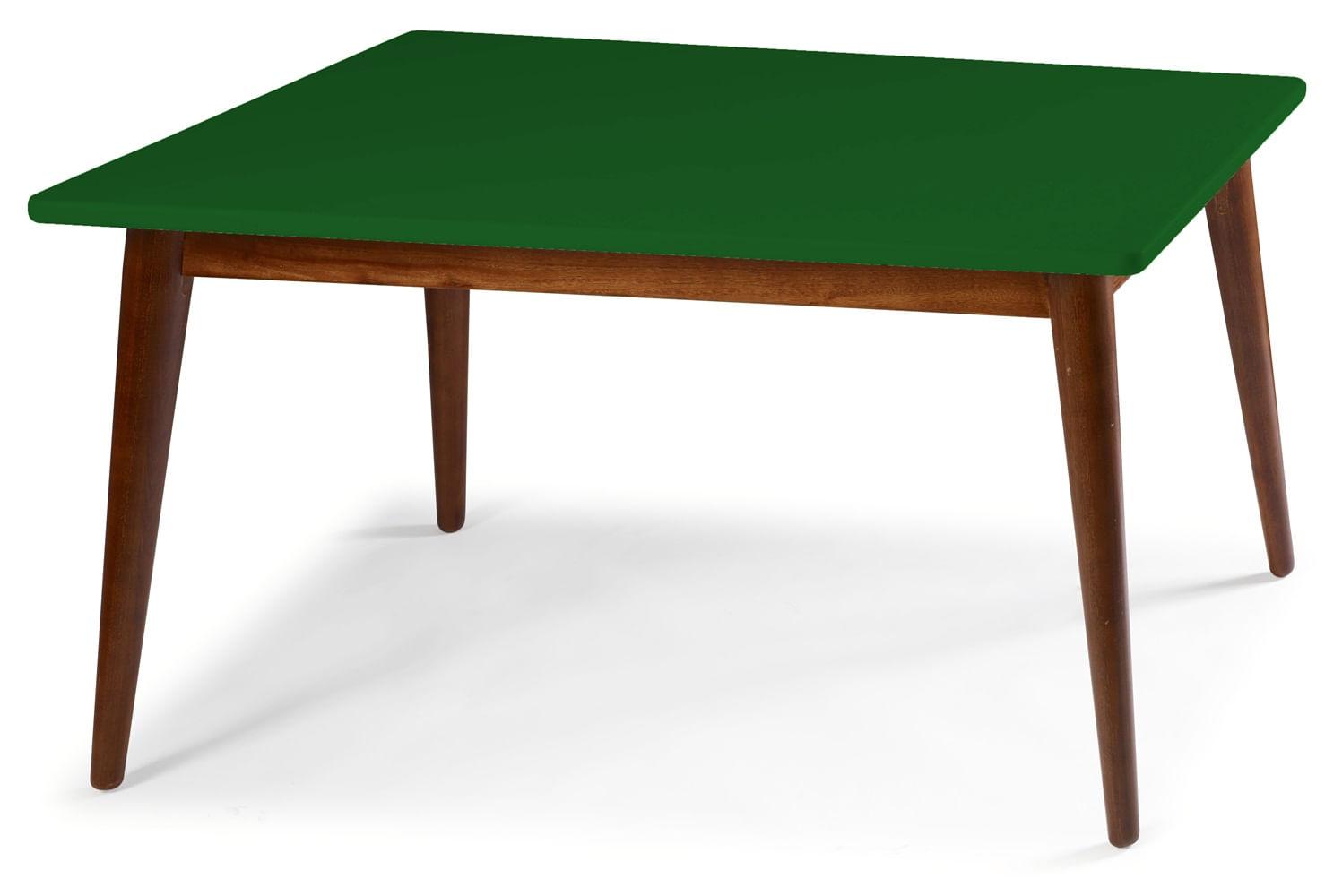 Mesa Jantar Novita 120cm Base Cacau Cor Verde Escuro - 25160