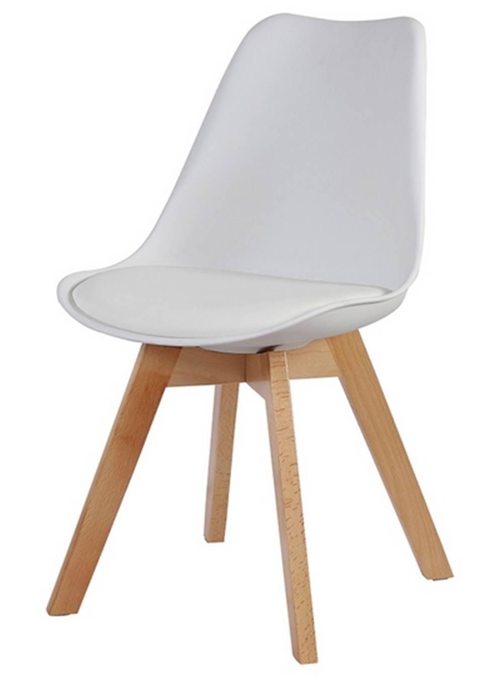 Cadeira Leda Eames PP Base Madeira Cor Branca - 26355