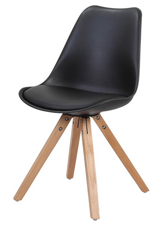Cadeira Ligia Eames PP Base Madeira Preta - 26360