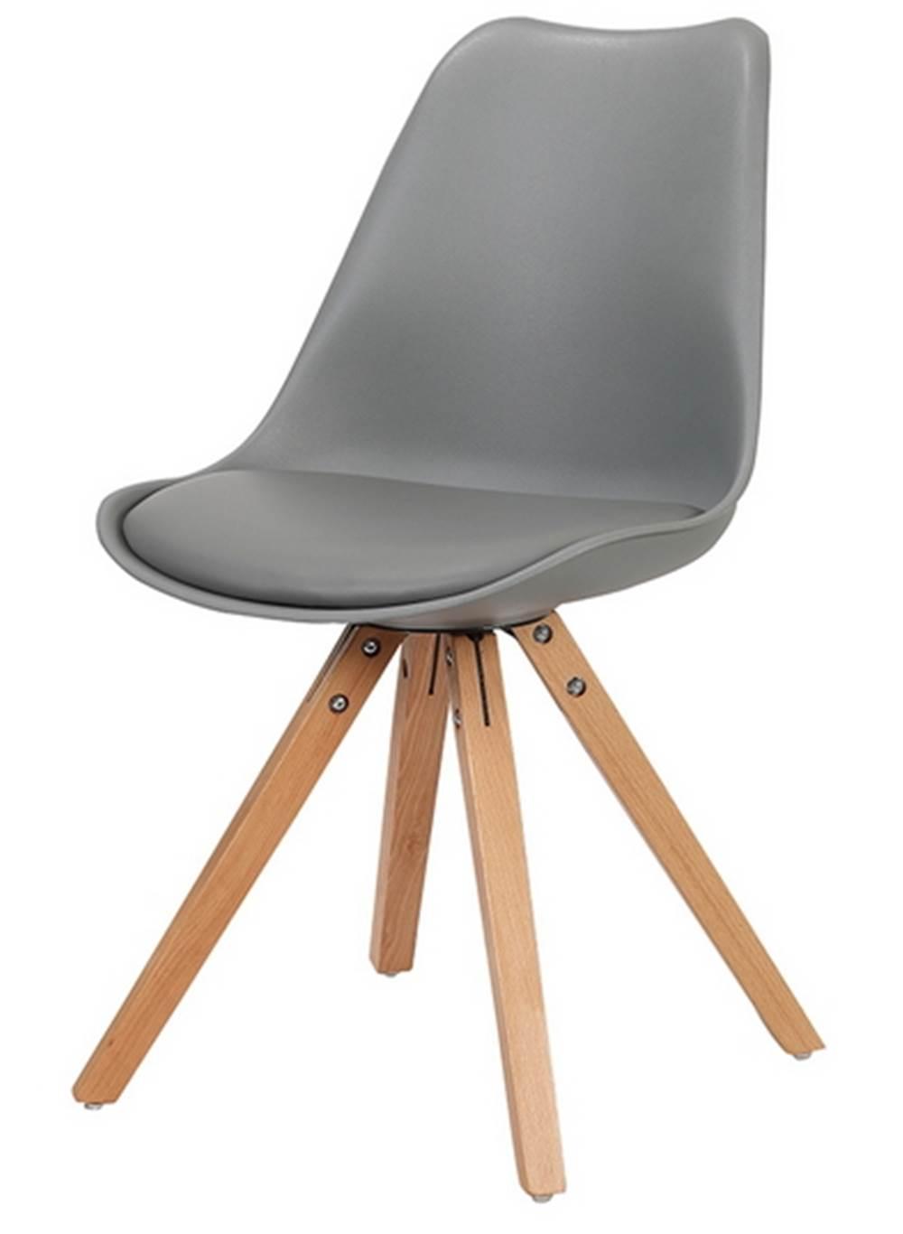 Cadeira Ligia Eames PP Base Madeira Cinza - 26361