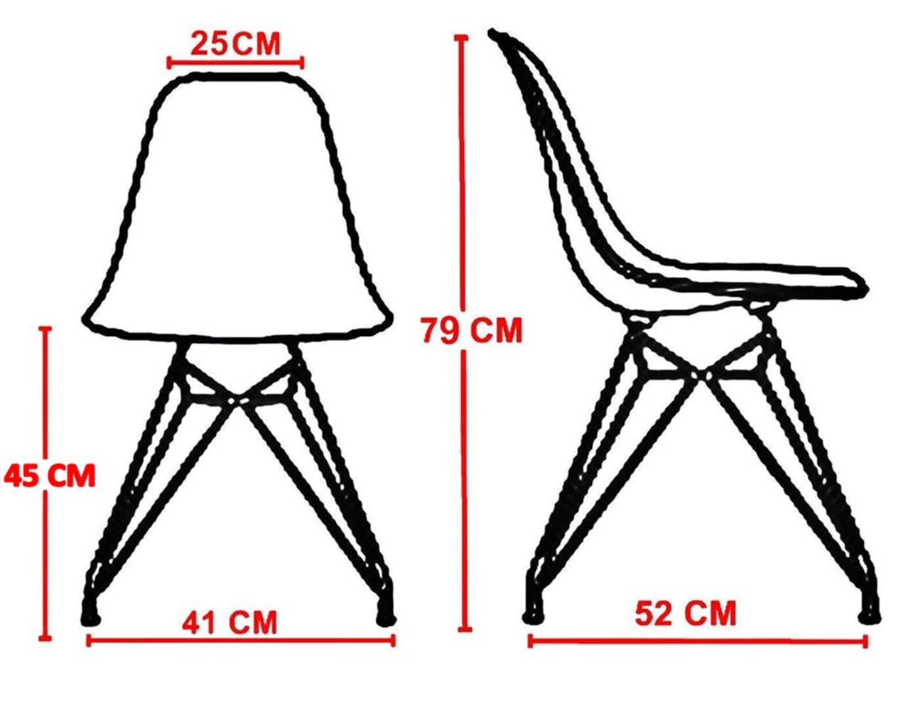 Cadeira Eames Policarbonato Incolor Base Madeira 17382
