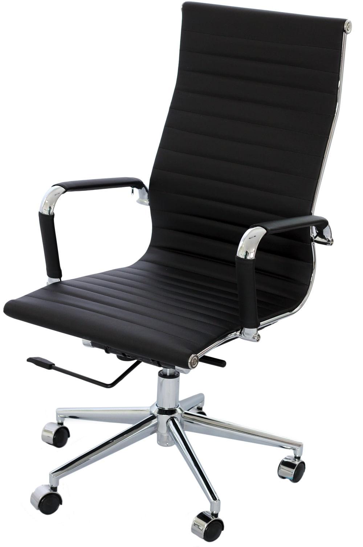 Cadeira Eames Alta Preta Base Cromada - 14692