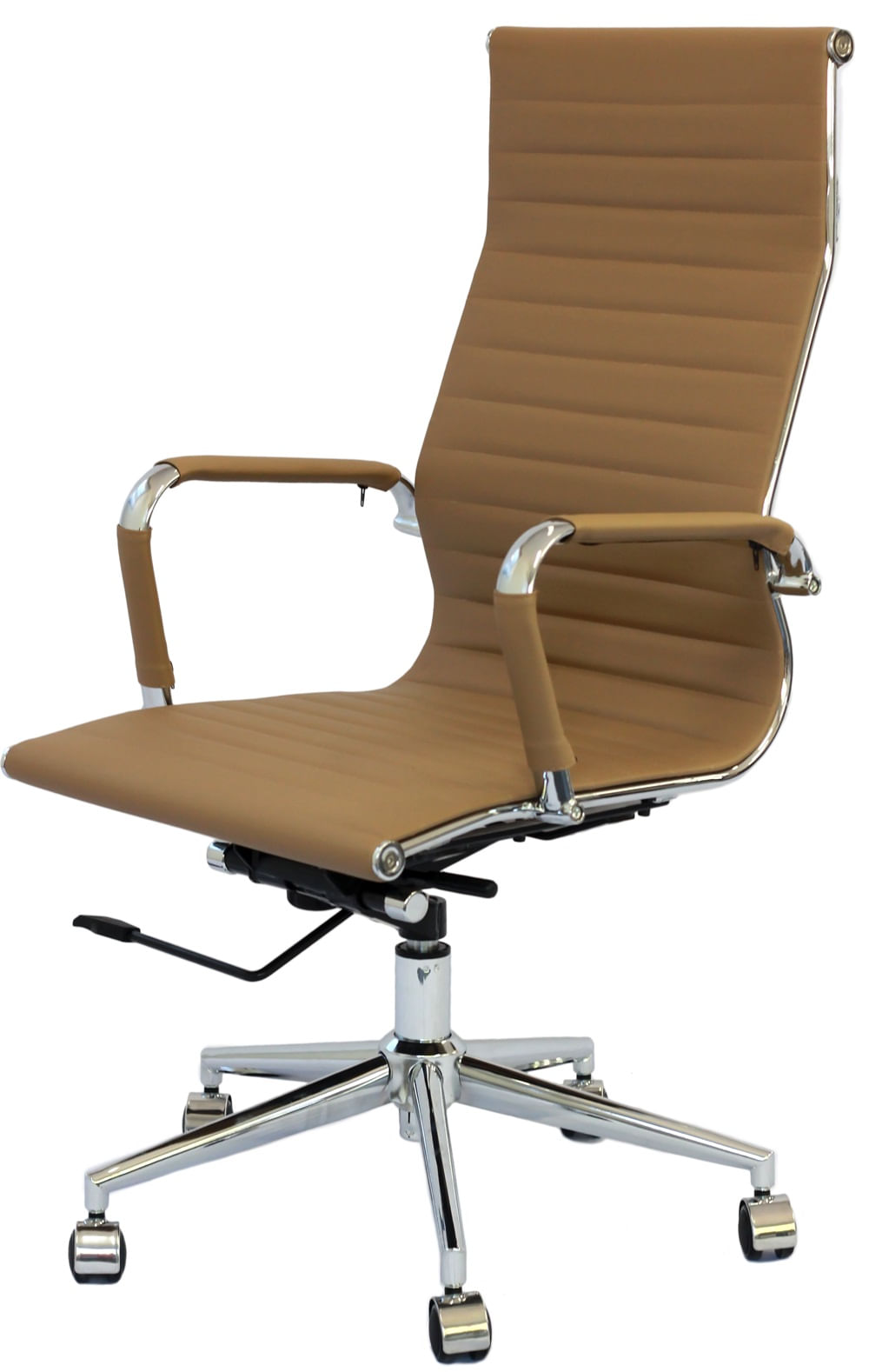 Cadeira Eames Alta Caramelo Base Cromada - 25608