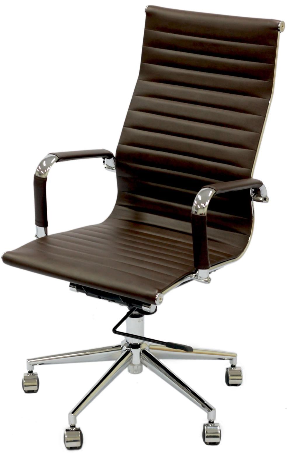 Cadeira Eames Alta Cafe Base Cromada - 27052