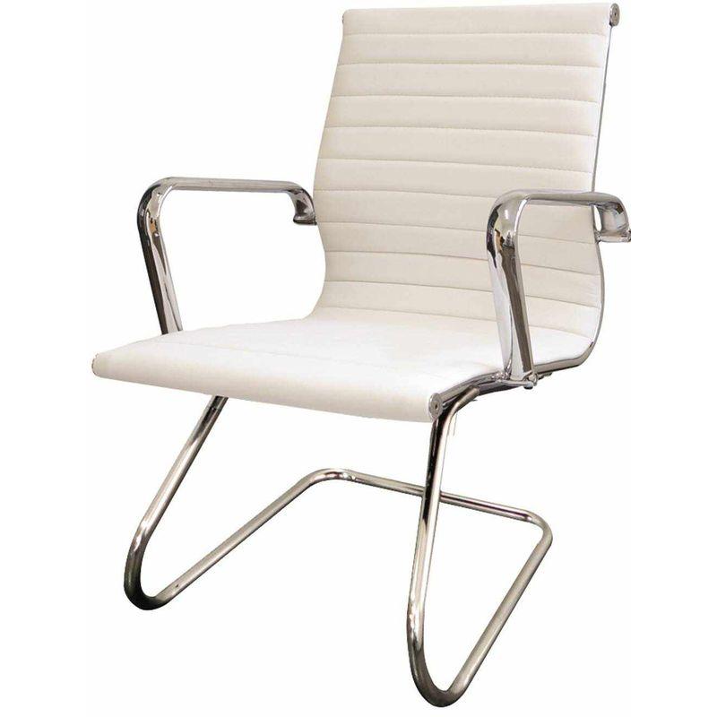 Poltrona-Eames-Esteirinha-Fixa-Branca-Base-Cromada