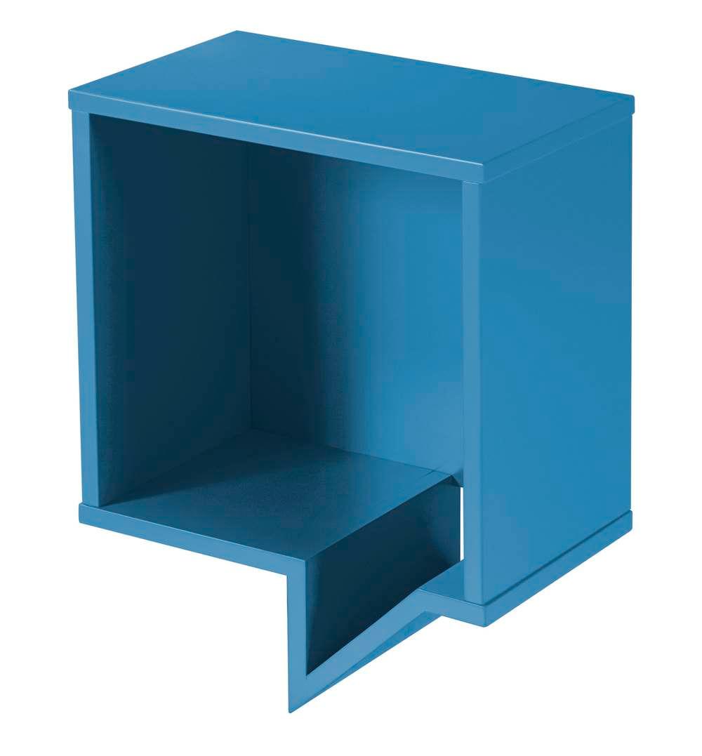 Prateleira Cartoon Quadrada Laca Azul - 27226