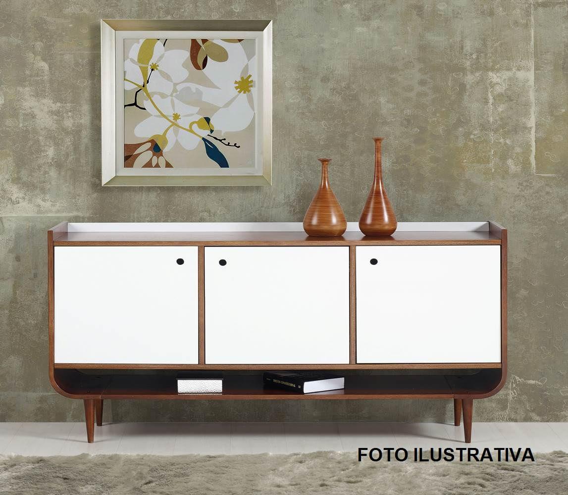 Buffet Dylan C/ 3 Portas Madeira Cor Cacau/ Vinho - 26206