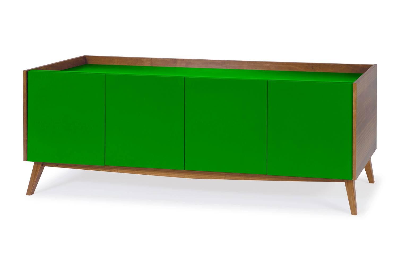 Buffet Novita  Amendoa/Branco Portas Laca Verde - 27494