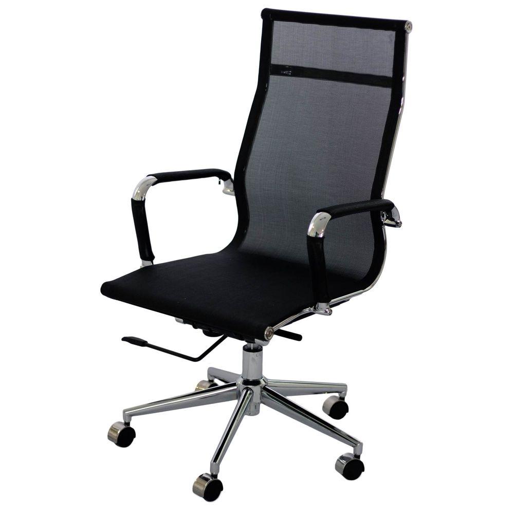 Cadeira Eames Telinha Alta Preta Cromada - 15202 - SunHouse 0e4f8afb5b5