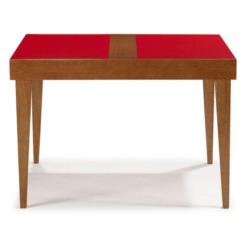 Ref.4101-Mesa-Gravata-130-tampo-madeira-Laqueado-Vermelho-A76xL80xC130-190-fechada