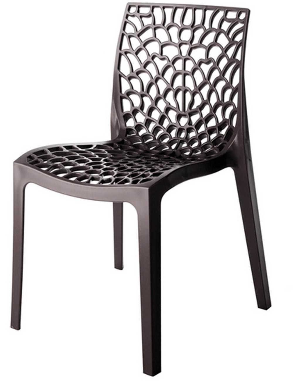 Cadeira Gruver Polipropileno Cor Dourada - 28429