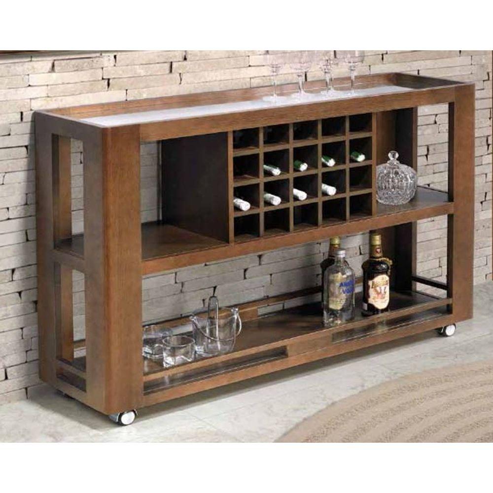 Armario Para Ropa Blanca Ikea ~ Aparador Bar Mariscal C Espelho Cor Capuccino 15230 SunHouse