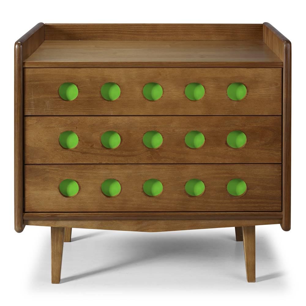 Comoda Vintage Cor Amendoa Com Verde - 28926