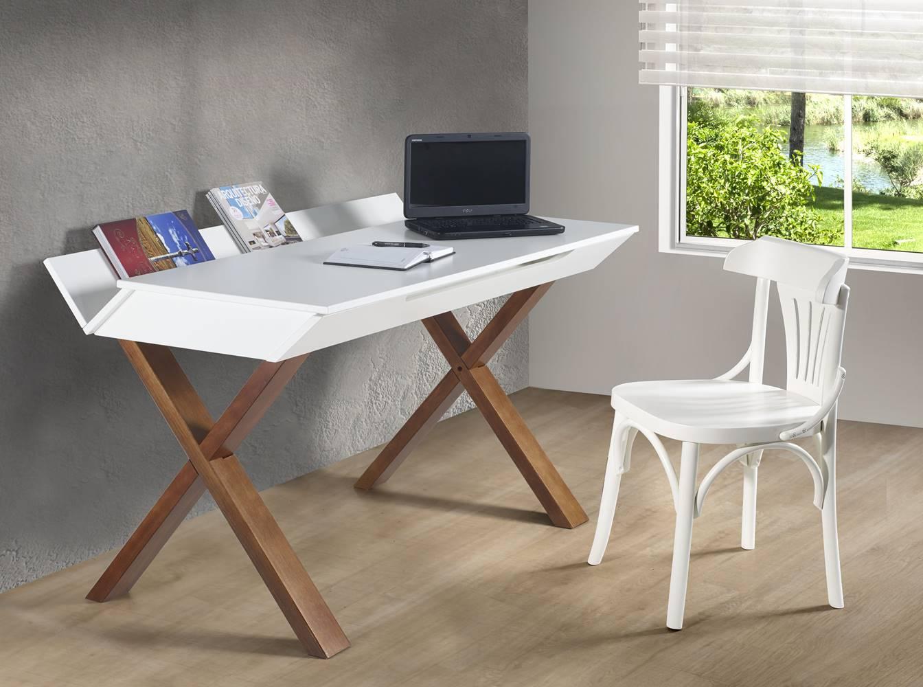Escrivaninha Studio Cor Cacau Com Azul - 28938
