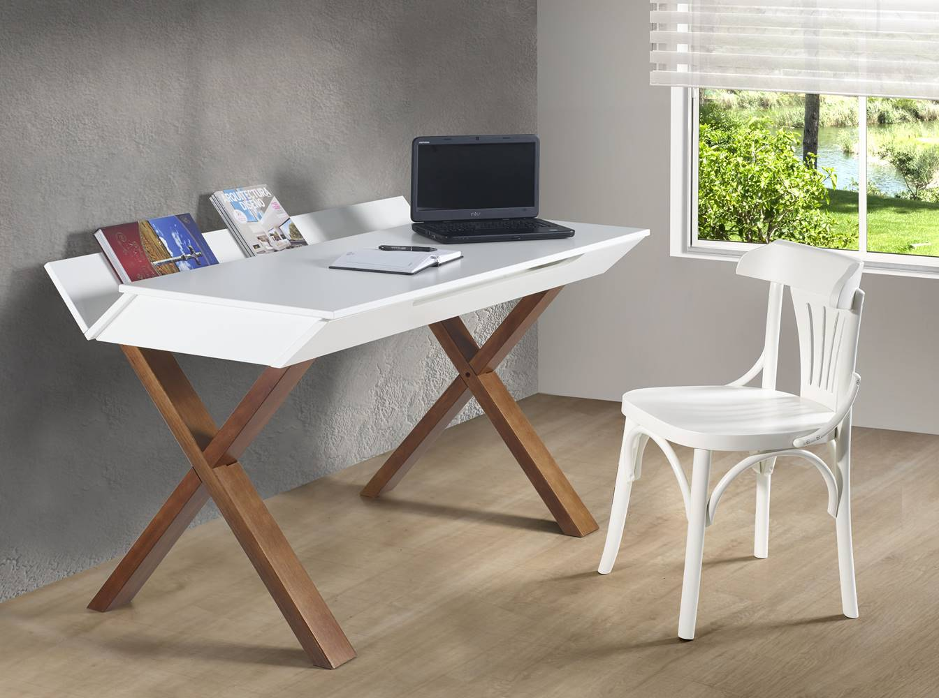 Escrivaninha Studio Cor Cacau Com Fendi - 28947