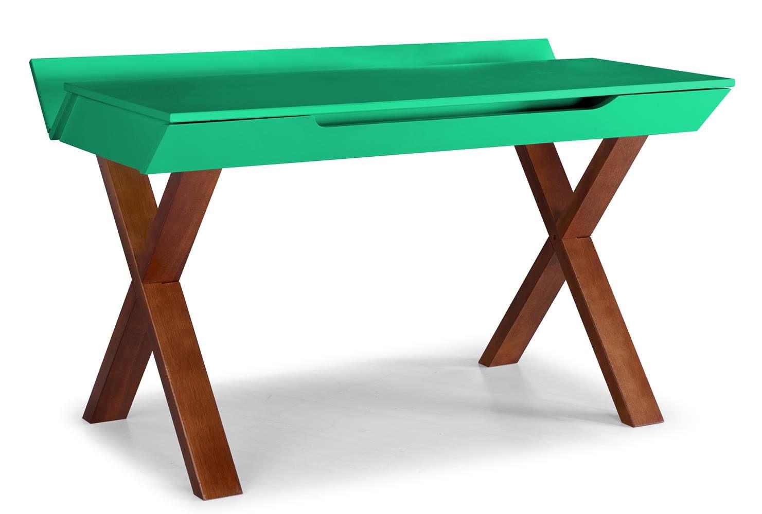 Escrivaninha Studio Cor Cacau Com Verde Anis - 28953